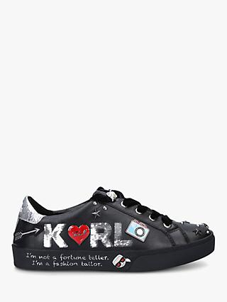 KARL LAGERFELD Skool Lace Up Trainers