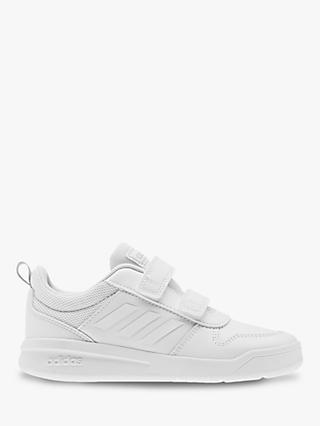 adidas Children's Tensaur Riptape Trainers, FTWR White/Grey Two