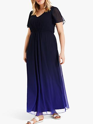 Studio 8 Betty Ombre Maxi Dress, Navy/Cobalt
