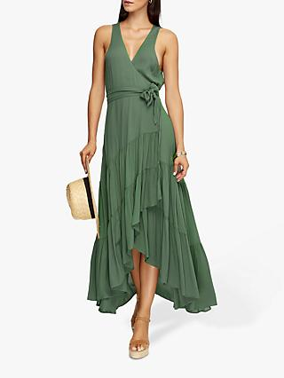 JETS Multi Tie Tiered Maxi Dress, Moss