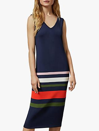 Ted Baker Marpee Colour Block Dress, Dark Blue