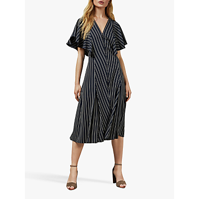 Ted Baker Flissie Striped Midi Dress, Navy/Multi