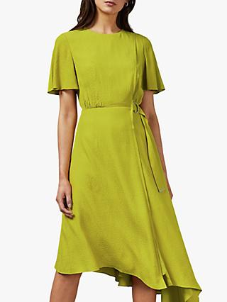 Ted Baker Marniee Asymmetric Hem Dress, Green Light