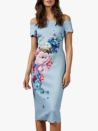Ted Baker Hailly Dress, Light Blue/Multi