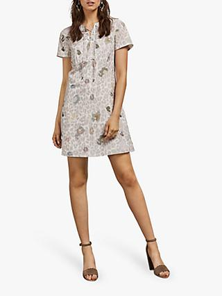 Ted Baker Ciad Shift Dress, Dusky Pink/Multi