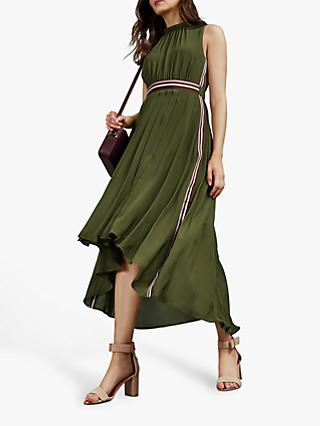 Ted Baker Leaah Pleated Maxi Dress, Khaki