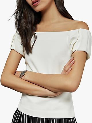 Ted Baker Dorento Bardot Top, Natural Ivory