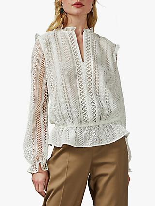 Ted Baker Comsee Embroidered Blouse, White