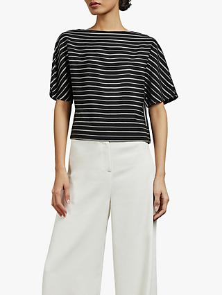 Ted Baker Rosalyn Stripe Top, Black