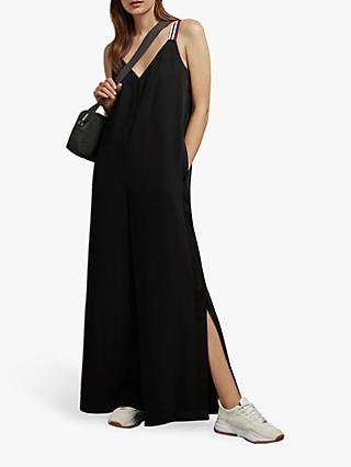 Ted Baker Jyline Striped Strap Jumpsuit, Black