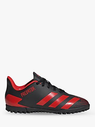 adidas Children's Predator 20.4 Turf Football Boots, Core Black/Active Red
