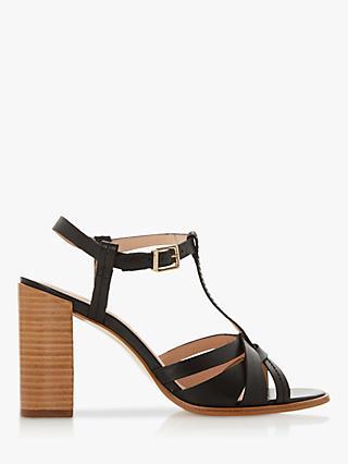14caf0556c Dune Jaysy Leather Block Heel Sandals