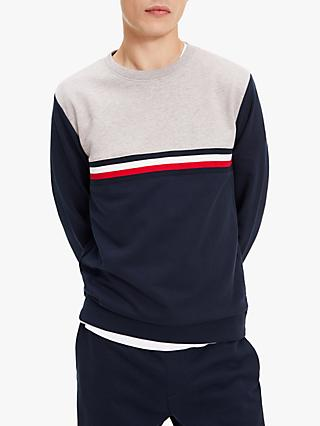 Tommy Hilfiger Colour Block Sweatshirt, CJM Sky Captain