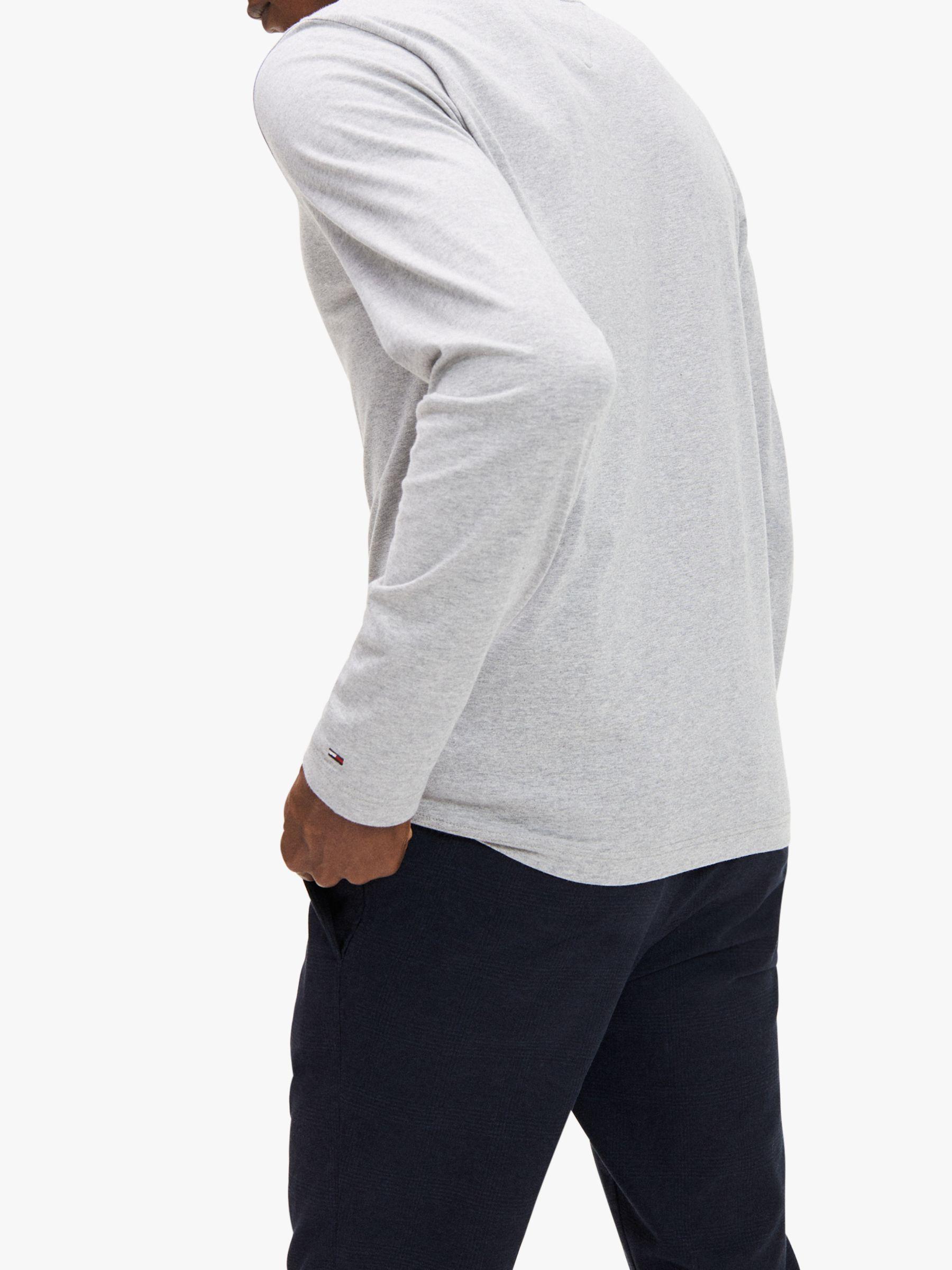 Tommy Hilfiger Long Sleeve Organic Cotton Logo T Shirt