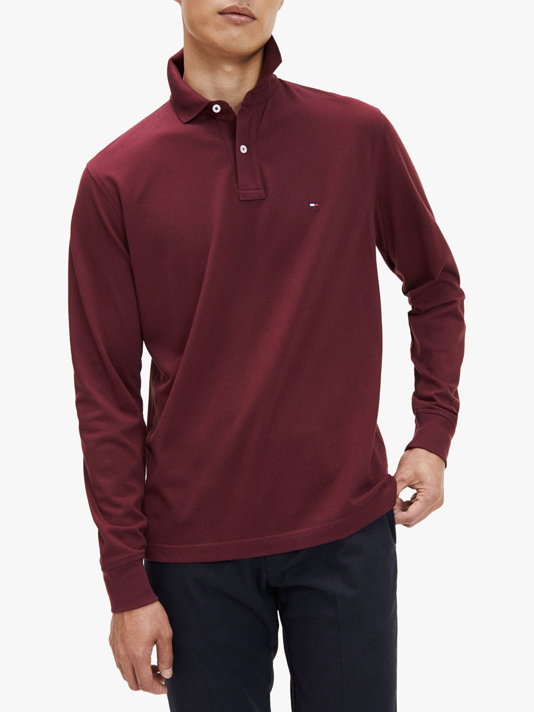 Tommy Hilfiger Mens Long Sleeve Polo Shirt in Classic Fit