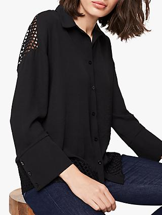 Damsel in a Dress Tonia Lace Trim Blouse, Black