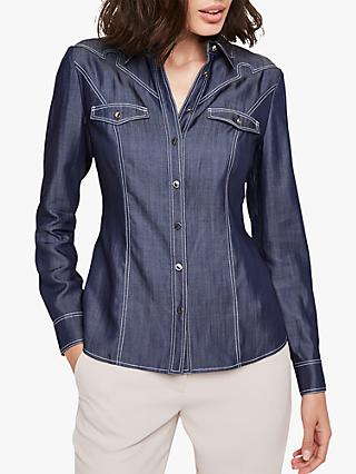 Damsel in a Dress Savona Denim Shirt, Blue