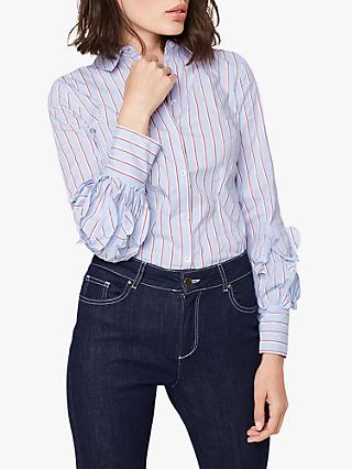 Damsel in a Dress Zoya Stripe Shirt, Blue/White