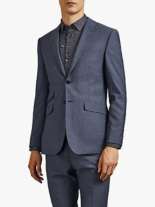 Ted Baker Whitbej Wool Tailored Suit Jacket, Light Blue