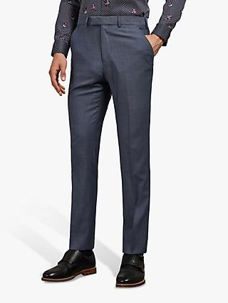 Ted Baker Whitbej Wool Tailored Suit Trousers, Light Blue