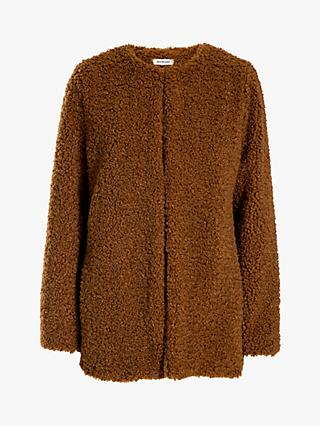 Max Studio Teddy Faux Fur Jacket, Cognac