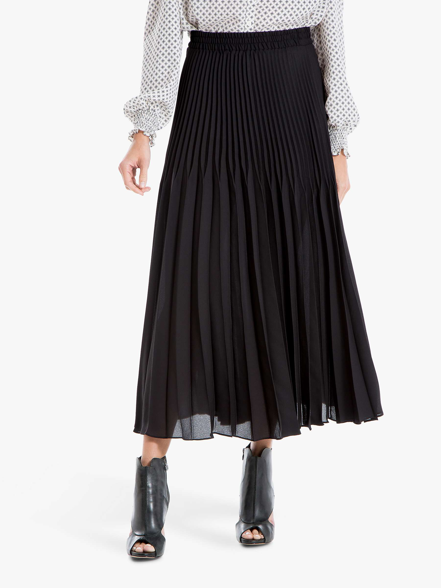 quite nice latest selection street price Max Studio Pleated Skirt, Black at John Lewis & Partners