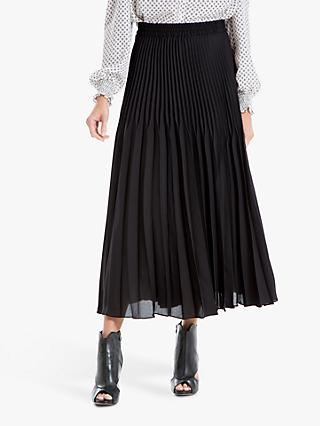 Max Studio Pleated Skirt, Black