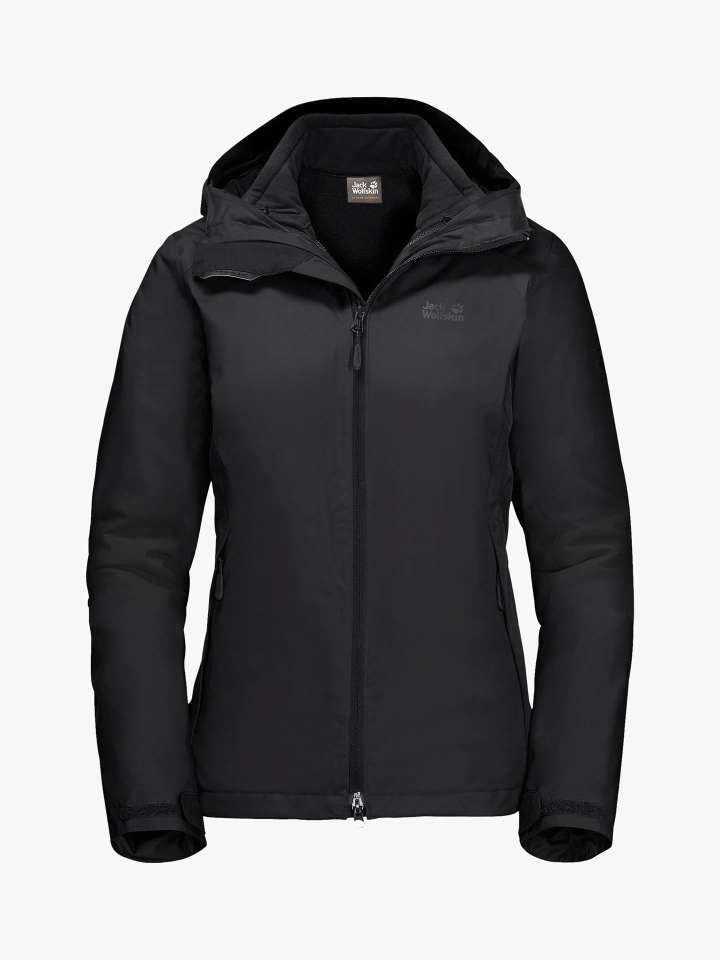 best service 4e4a1 44a9c Jack Wolfskin Gotland 3-in-1 Women's Waterproof Jacket, Black