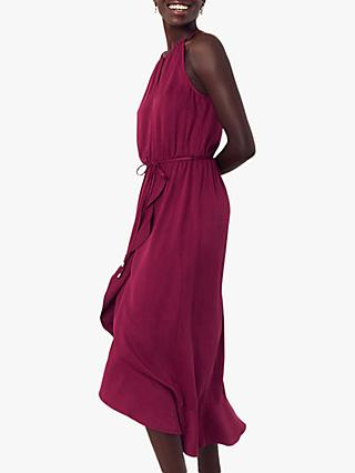 Oasis Wrap Midi Dress, Burgundy