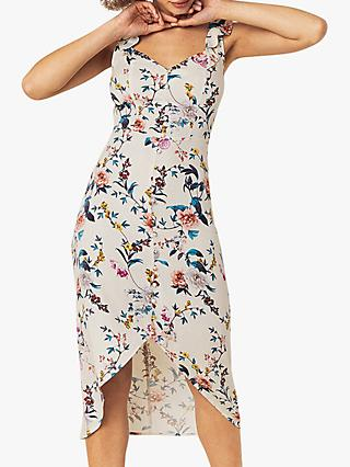 Oasis Floral Print Dress, Neutral