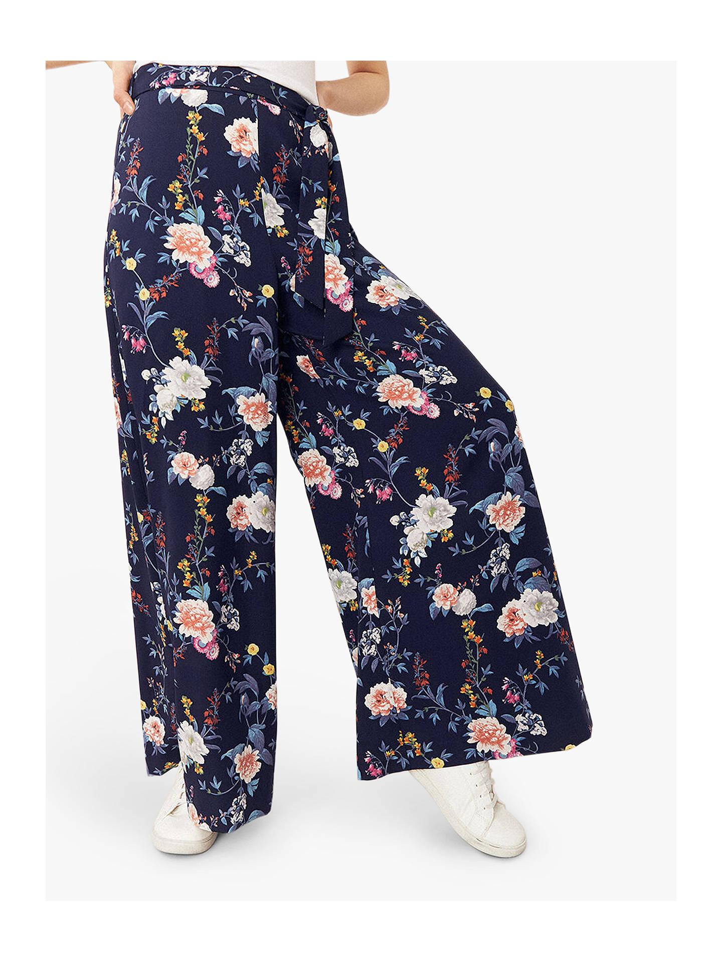 fc3b0d446f Buy Oasis Floral Wide Leg Trousers, Multi, 6 Online at johnlewis.com ...
