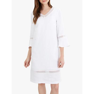 Jaeger V-Neck Linen Tunic Dress