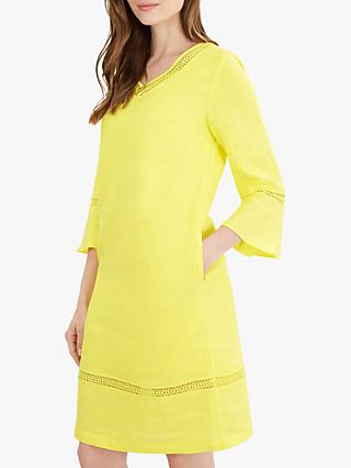 Jaeger V-Neck Linen Tunic Dress