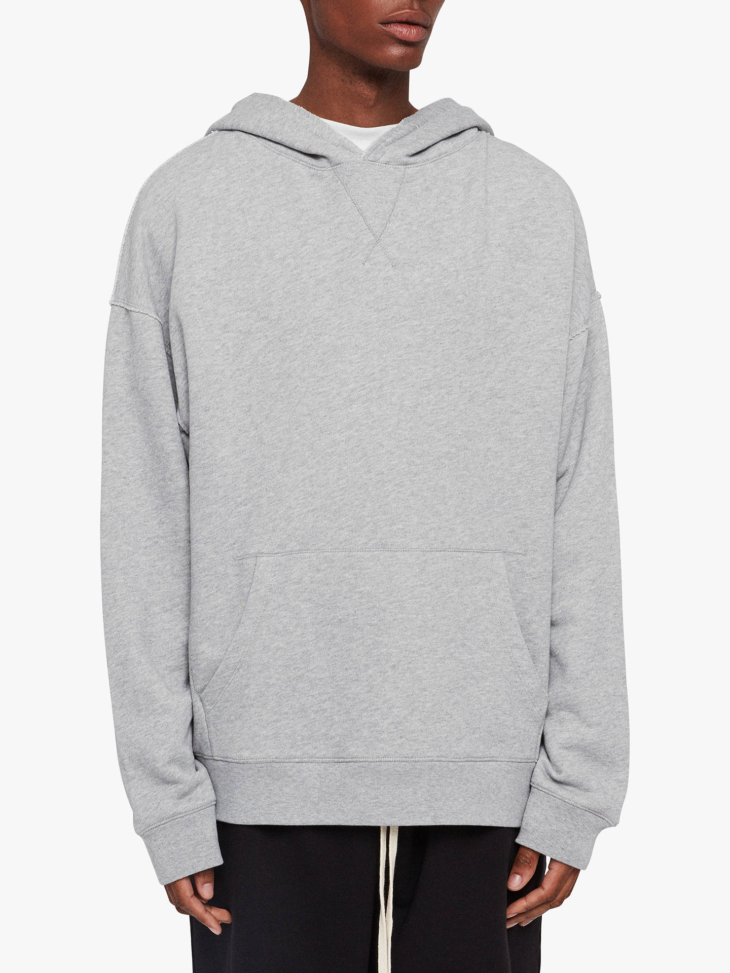 outlet store b489c 04c87 AllSaints Kyle Pullover Hoodie, Grey at John Lewis & Partners
