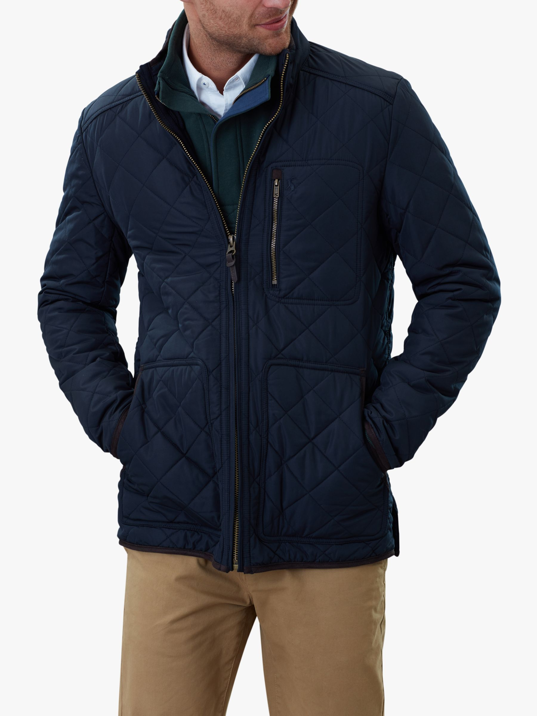 Joules Joules Derwent Quilted Jacket, Marine Navy