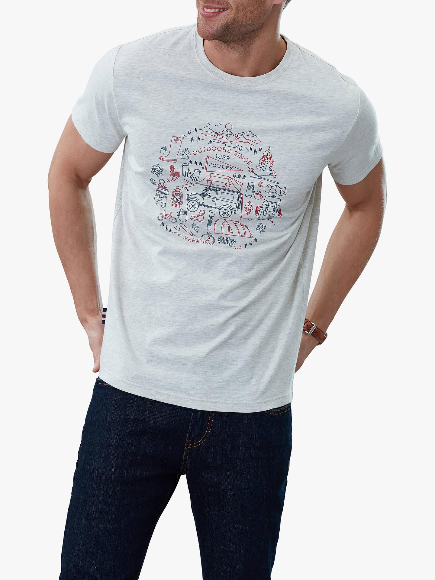 3706c69ede2c Buy Joules Flynn Graphic Short Sleeve Cotton T-Shirt, Antique Cream, S  Online ...
