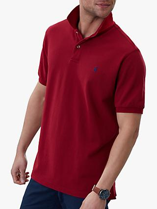Joules Woody Classic Polo Shirt, Deep Red