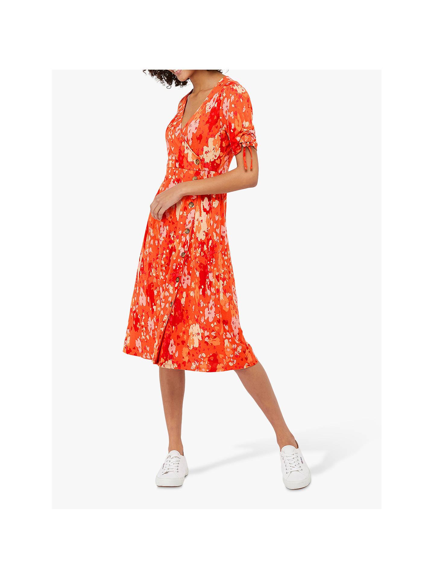 b57a48b41698 Buy Monsoon Nigela Jersey Print Midi Dress, Red/Multi, 8 Online at  johnlewis ...