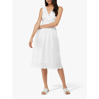 Image of Monsoon Axel Broderie Dress, White