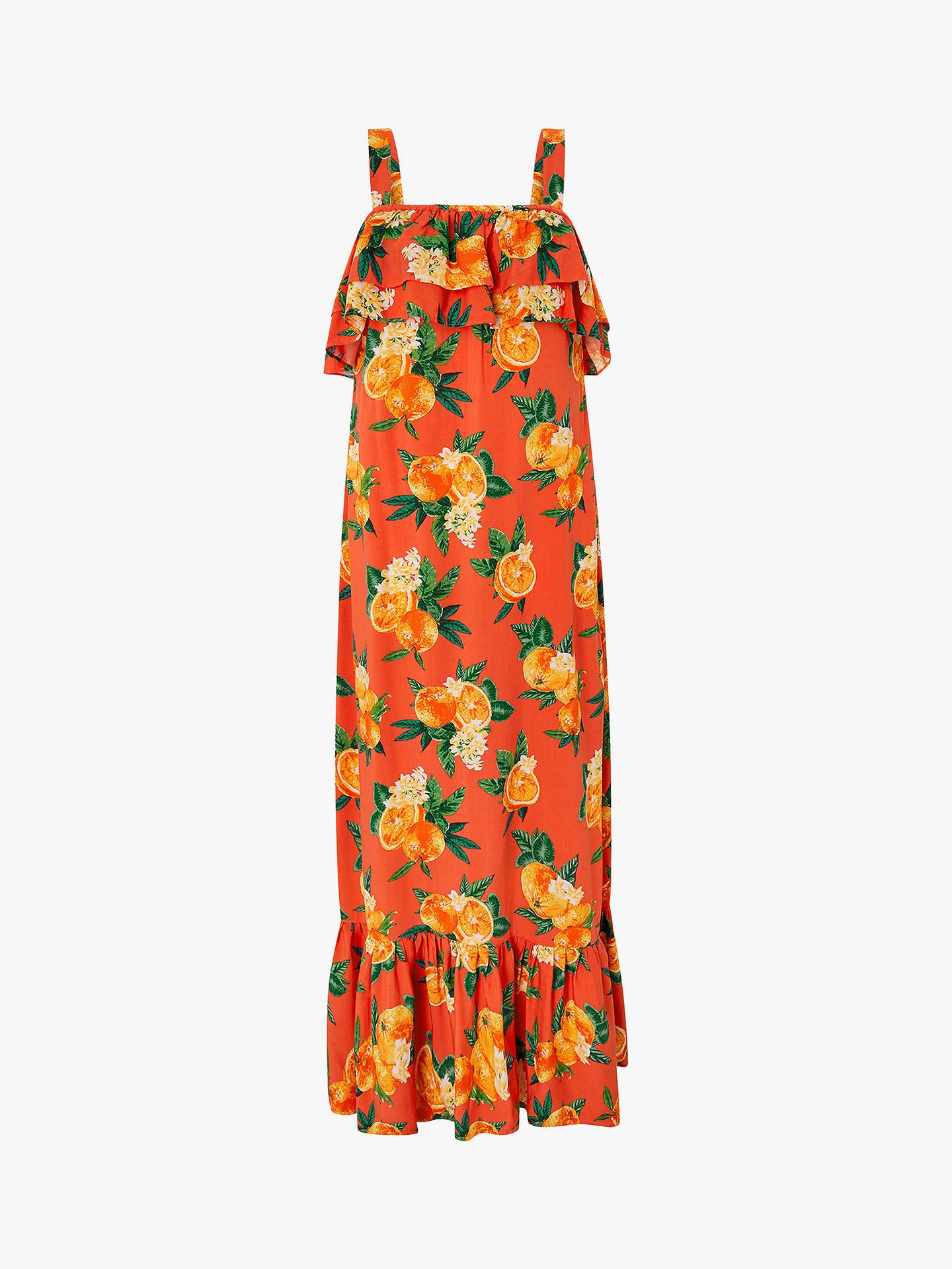 cf086f70a33 ... Buy Monsoon Laranja Orange Print Maxi Dress, Orange, S Online at  johnlewis.com ...