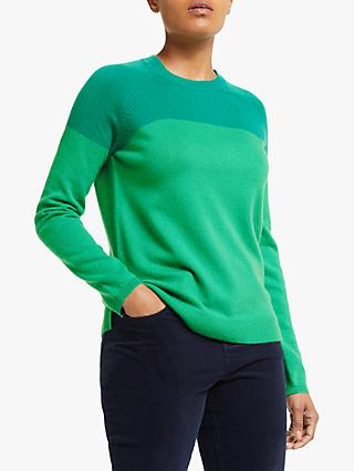 Collection WEEKEND by John Lewis Cashmere Colour Block Jumper