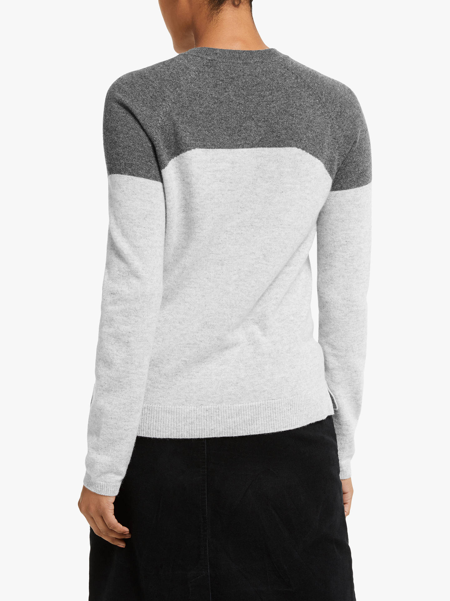 Buy Collection WEEKEND by John Lewis Cashmere Colour Block Jumper, Grey, 8 Online at johnlewis.com