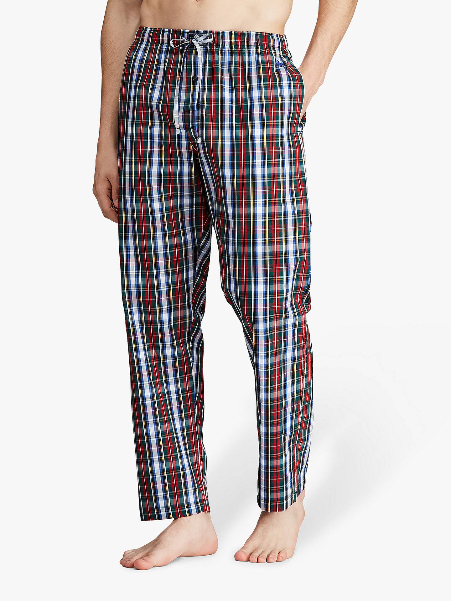 c284b510 Ralph Lauren Check Cotton Sleep Trousers, Red/Multi