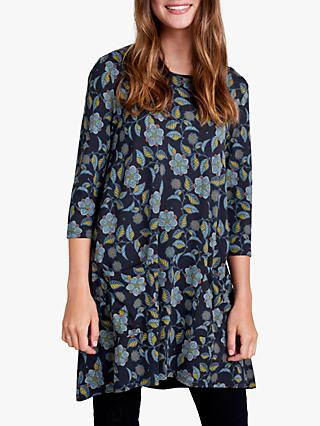 Seasalt Longor Dress, Logan Flower Dark Night