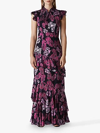 Whistles Butterfly Devore Maxi, Multi