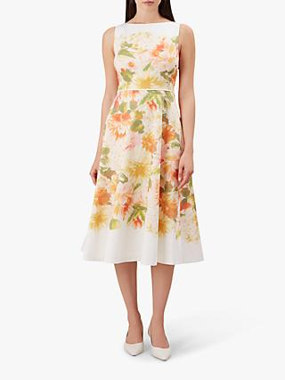 Hobbs Dahlia Dress, Ivory Multi