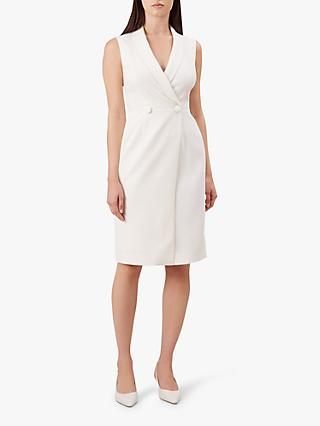 Hobbs Lana Sleeveless Dress, Ivory