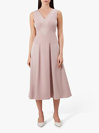 Hobbs Elaine Dress, Shell Pink