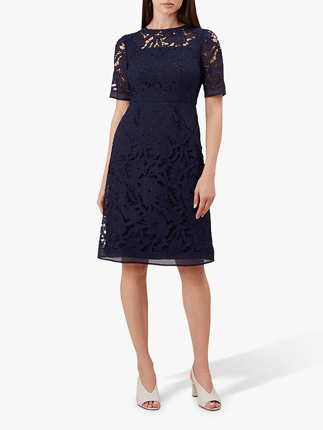 Hobbs Mandy Lace Dress French Navy At John Lewis Amp Partners