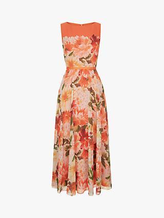 60fae4373 Hobbs Carly Dahlia Floral Print Midi Dress, Orange